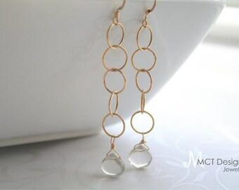 Long Vermeil Earrings - GOLD RING Earrings