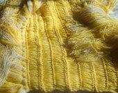Yellow and Cream Newborn Baby Fringed Photo Prop Hammock,  Brand New Ready to Ship