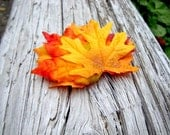 Small Fall Leaf Hair Comb