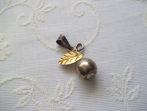 Mexican Sterling Silver Cherry Pendant