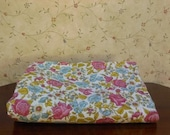 Sale Easter Vintage 70's Style Floral Patterned Fabric 3 yards
