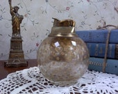 Vintage Glass Table Top Gold Lighter