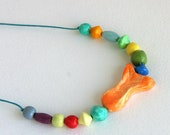 Fish necklace, clay necklace, bead necklace, colorful jewelry, candy necklace, animal necklace, gifts for tweens, on sale