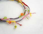 Twisted cords spring necklace