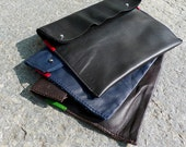 SALE leather pochette  - made in italy