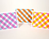 Gingham Note Cards - Set of 3