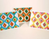 Ikat Note Cards - Set of 3