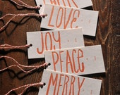 Gift Tags - Red, Words