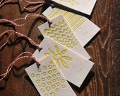 Gift Tags - Abstract, Yellow