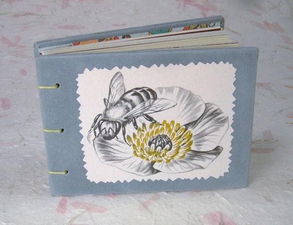 Flower & Bee Mini Garden Journal w/Vintage1960's Science Sketch