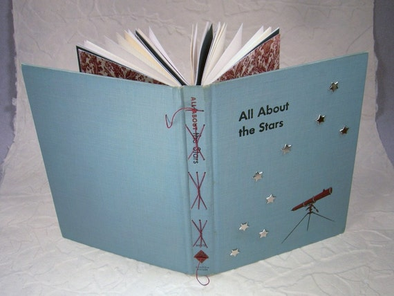 All About the Stars 1954 Science Textbook Rebound Journal for Science Teacher or Father's Day