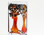 Hand Painted Glass Vase Africa