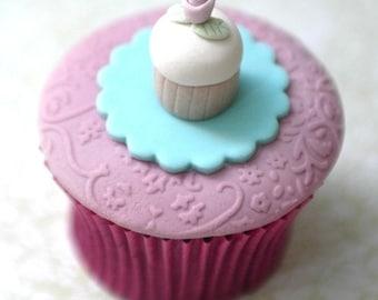 Itty Bitty Fondant Cupcake on Cupcake PDF Tutorial