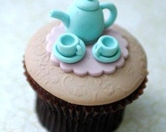 Tea Set Cupcake PDF Tutorial