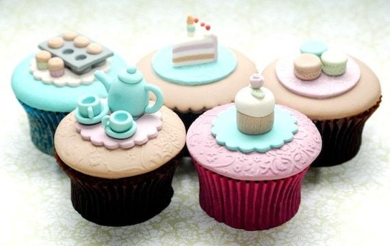 High Tea Set of 5 Cupcakes PDF Tutorial