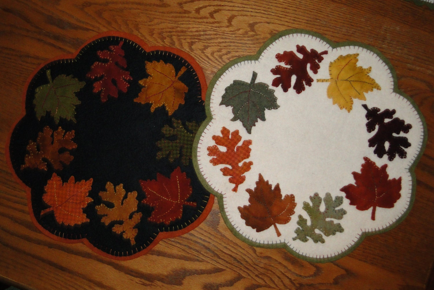 Autumn Leaves Penny Rug Pattern
