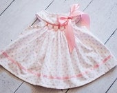 Polka dot Infant or toddler Hand Smocked dress and panties