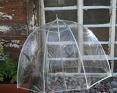 vintage clear bubble umbrella