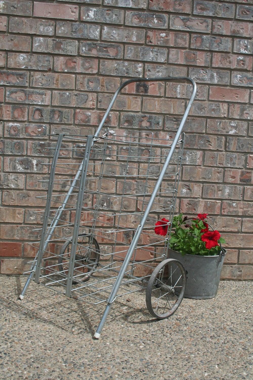 Vintage Folding Shopping Cart