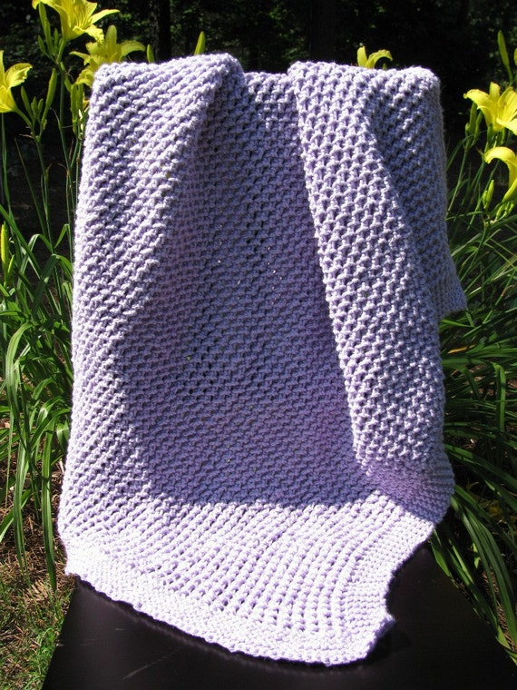 Quick And Easy Knitted Baby Blanket Patterns : Items similar to Easy Bamboo Stitch Baby Blanket (Knitting Pattern) on Etsy
