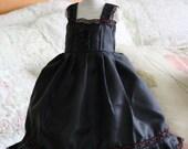 Beautiful satin black dress for JID Iplehouse and similar sized dolls