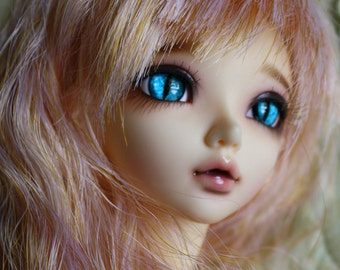 BJD eyes Doll eyes Hand Made available in 12/14/16/18/20/22/24mm Sapphire Marbled Cat  made to order