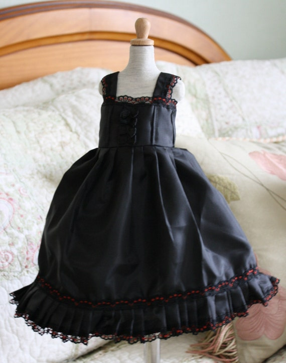Beautiful satin black dress for JID Iplehouse and similar sized dolls