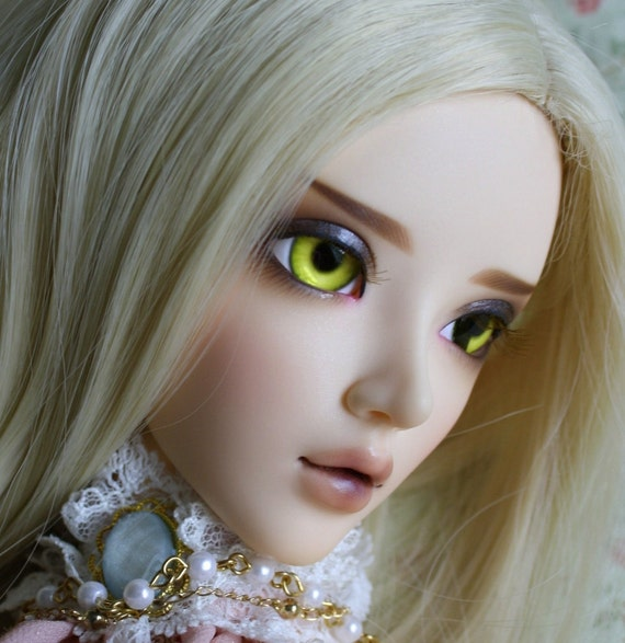 BJD eyes available in 14/16/18/20/22/24mm Limoncello made to order