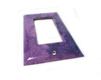 Rocker Switch cover - decorative handmade switch wallplate in purple