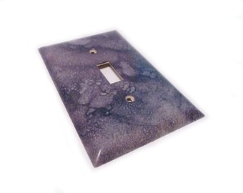 Purple switch plate - decorative light switch cover
