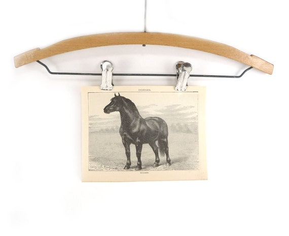 Vintage horse print - 5 x 7 frameable book page