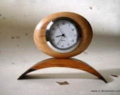 Small  Walnut and Maple Clock