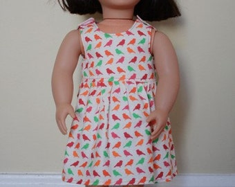 PDF Sewing Pattern - 18 inch doll Little Birdie Dress