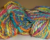 SALE HALF PRICE Handspun Handdyed Superwash Merino Yarn - Fruit Loops