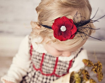 Women Headband, Vintage Inspired Headband Baby Headband Newborn Headband Bloom Photo Prop Couture Headband Infant Headband  NO.351