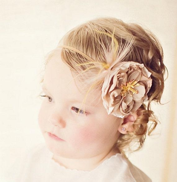 Baby Headband : Vintage Inspired Headband Baby Headbands Toddler Headband Singed Fabric Flower Headband Photo Prop ITEM NO.303