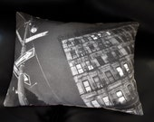 New York City's Iconic Lower East Side Throw Pillow