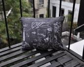 NYC Grafitti Pillow - Large