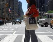 New York City Walk Light Canvas Tote