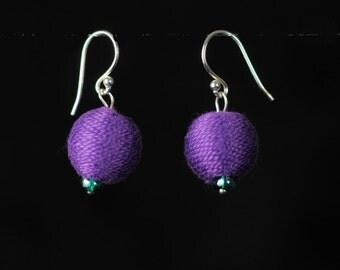 Playful Purple Earrings