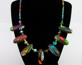 Polymer Clay Long Bead Necklace