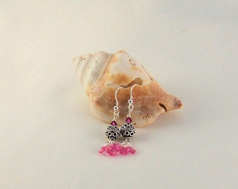 Crystal and Sterling Earrings-First Blush