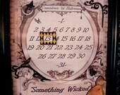 Interchangable Halloween and Christmas Countdown