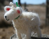 Needle-felted curly-hair sheep