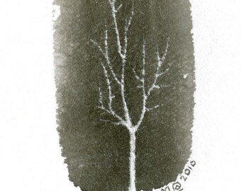 Tree Series - Simple white - Original ink drawing