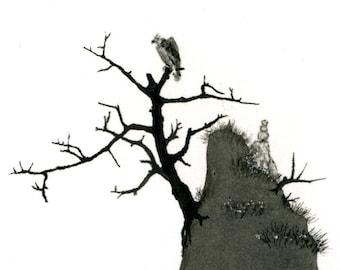 Vantage Point - Original ink drawing