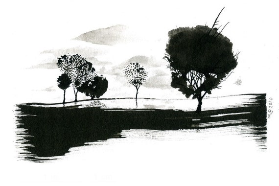 Tree Series - Out There - Original ink drawing