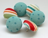 Button Pushpins - Stripes and Dots