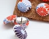 Button Pushpins - Flower Fireworks - Set of 12