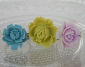 Bridal jewelry gift 3 Rose Flower Rings